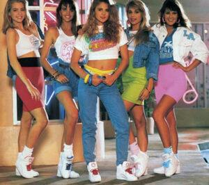 Moda feminina anos 80